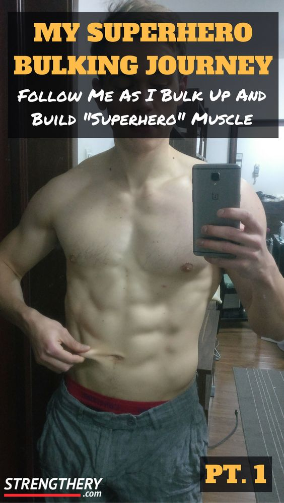 superhero bulking to build a body like a superhero of course!