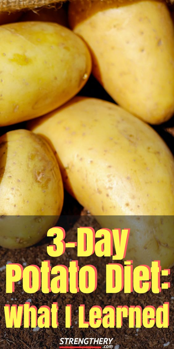 I ate nothing but potatoes for three days. Here is what I learned from a 3-day potato diet. #weightloss #3daypotatodiet #potatochack #potatodietplan