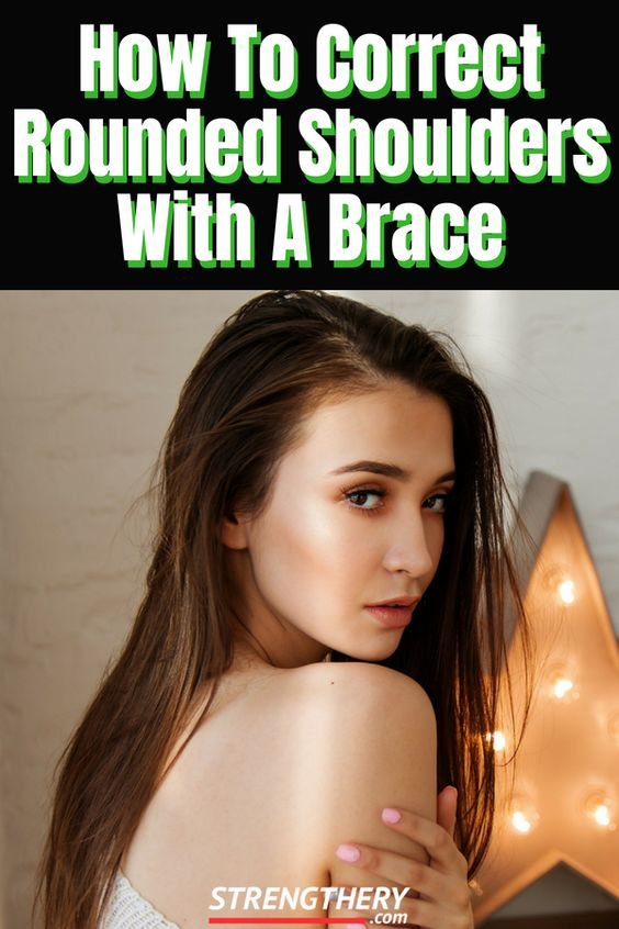 Do you want to fix your rounded shoulders? Using a brace can be a good idea, but there are some things you need to consider. Learn more here. #developgoodposture #fixroundedshoulders #roundedshoulders