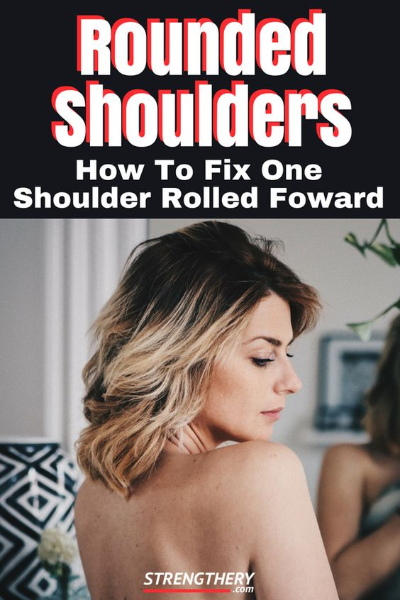 woman with one shoulder more forward than the other one