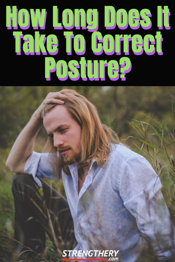 man confused about improving posture