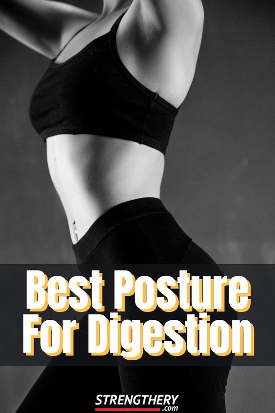 there is a strong link between posture and digestion