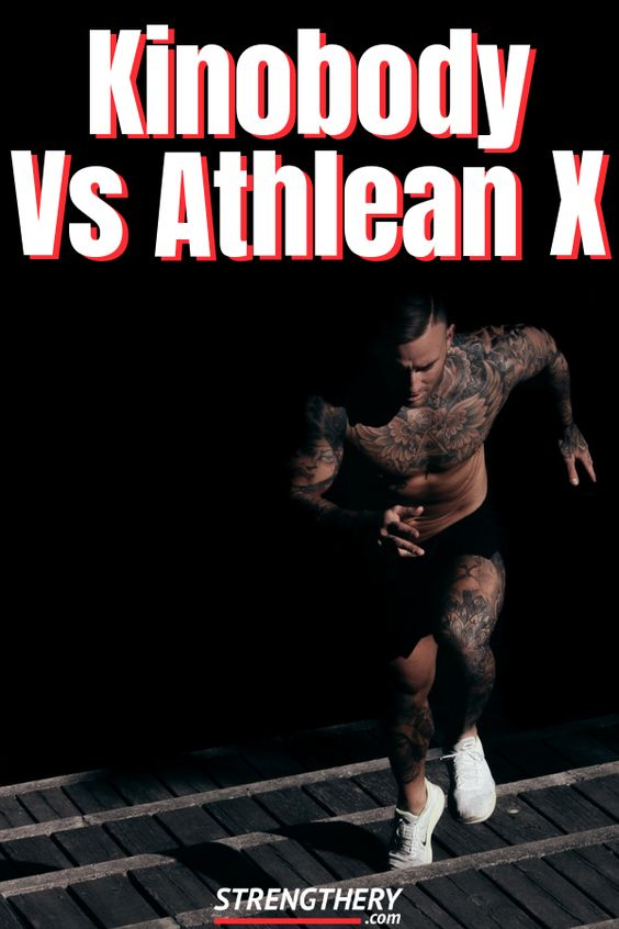 man doing athlean x or kinobody workouts