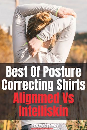 woman wearing a posture correcting shirt